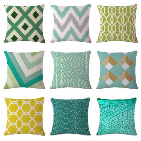Throw Pillow Covers | Coastal Color Geo - 12 designs - Seahorse Mansion