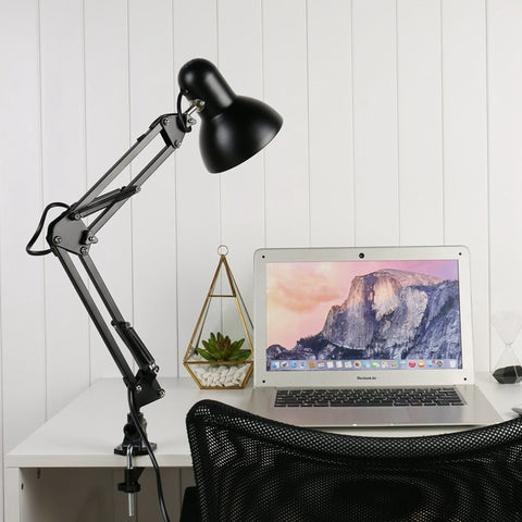 Desk Lamp | Clip-On Swing Arm - Black - Seahorse Mansion