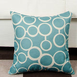 Throw Pillow Covers | Aqua Geometric - 6 designs - Seahorse Mansion
