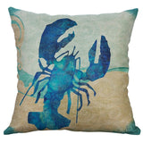 Throw Pillow Covers | Watercolor Sea Creatures - 7 designs - Seahorse Mansion