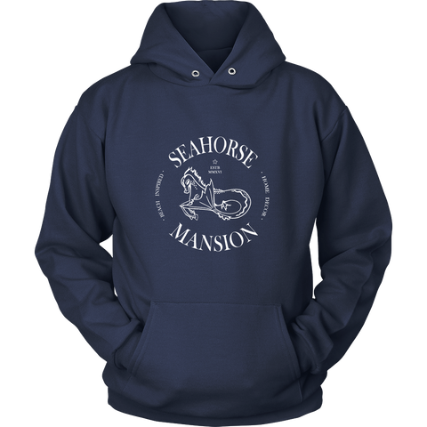 Seahorse Mansion Hoodie - Unisex - Seahorse Mansion - coastal decor gifts