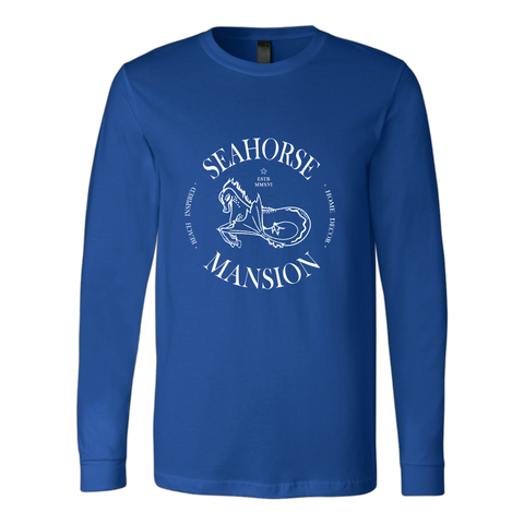 Long Sleeve Logo Tee - Unisex - Seahorse Mansion - coastal decor gifts