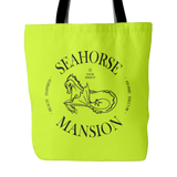 Large Logo Beach Tote - Seahorse Mansion - coastal decor gifts