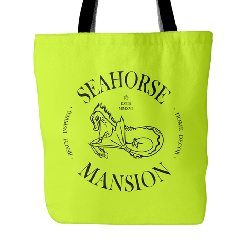 Logo Beach Tote | Adventure Bag - Seahorse Mansion, 3 colors - Seahorse Mansion