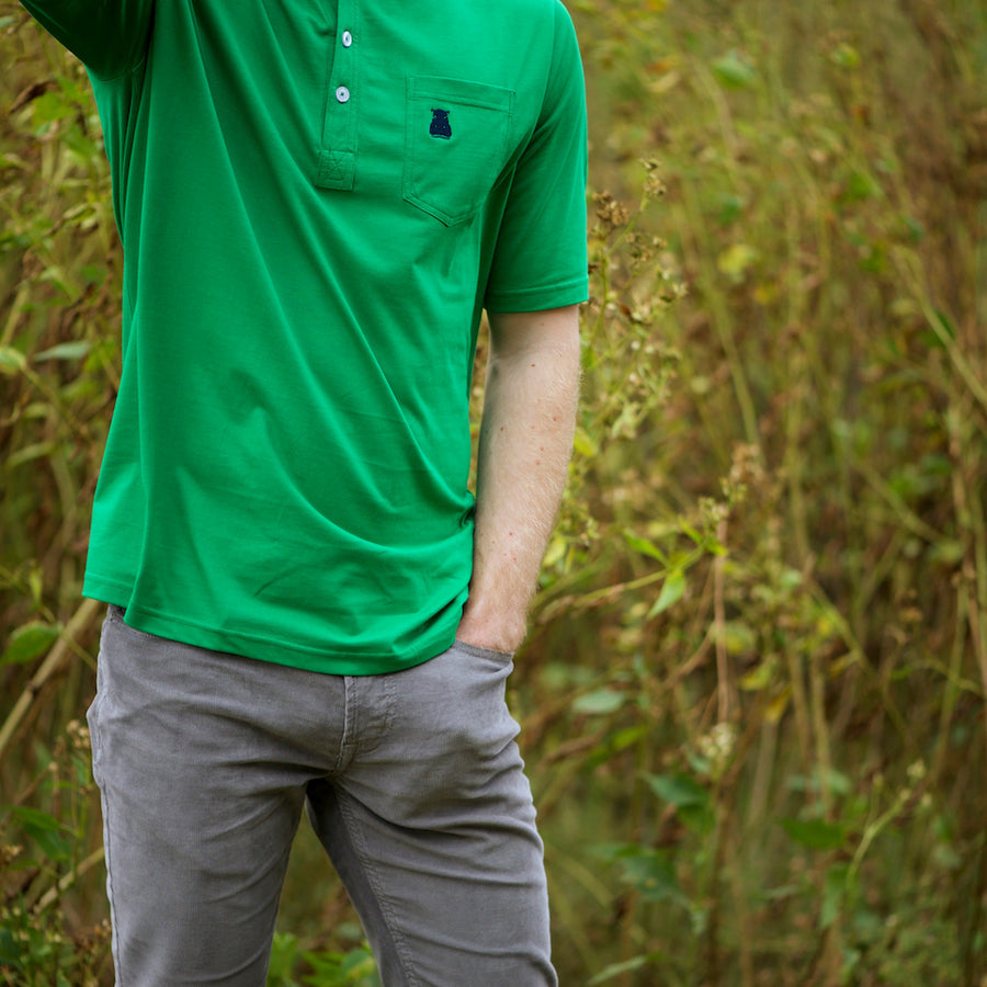 The Green 4-Button Pocket Polo