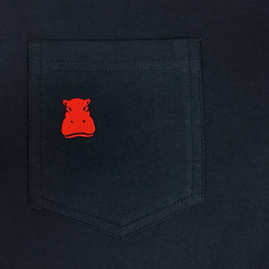 The Navy 4-Button Pocket Polo