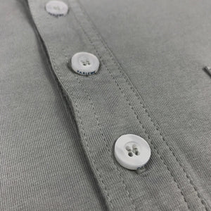 The Gray 4-Button Pocket Polo