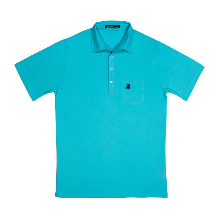 The Aqua Cotton Polo