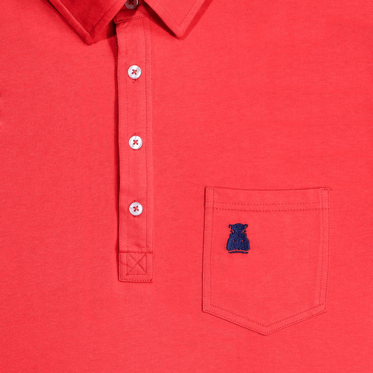 The Coral Cotton Polo