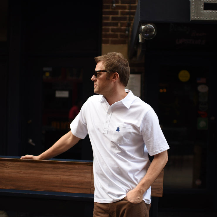 The White Cotton Polo