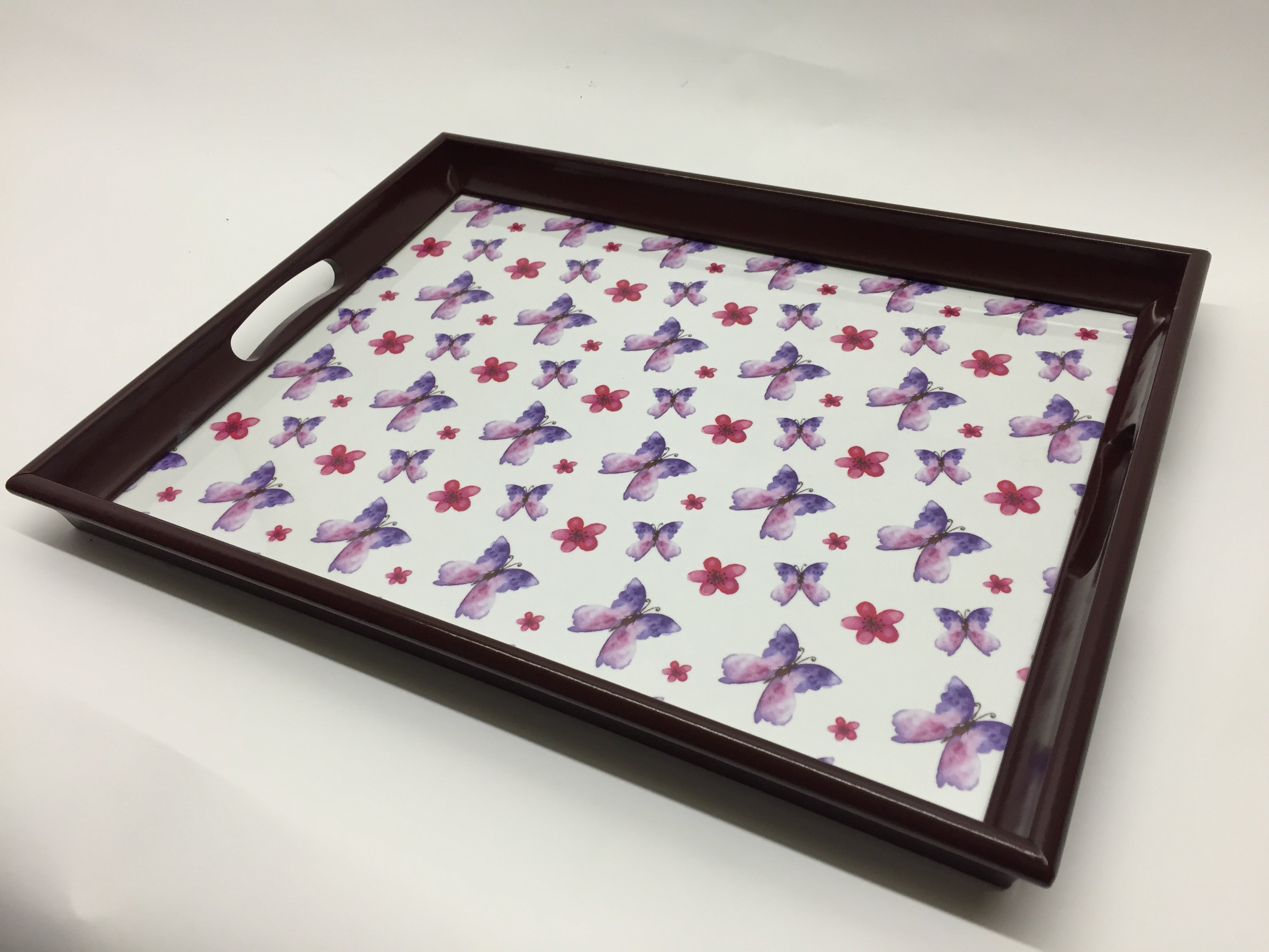 Butterfly Melamine Based Serving Tray