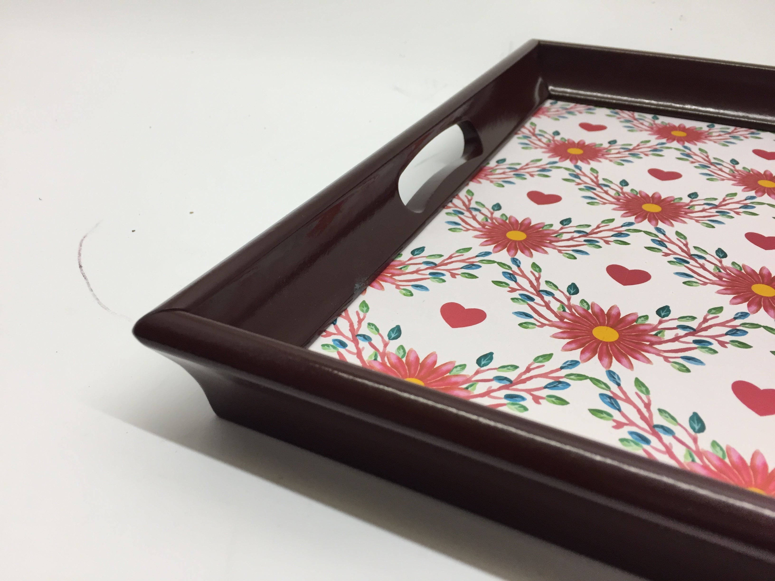 Hearts Melamine Based Serving Tray