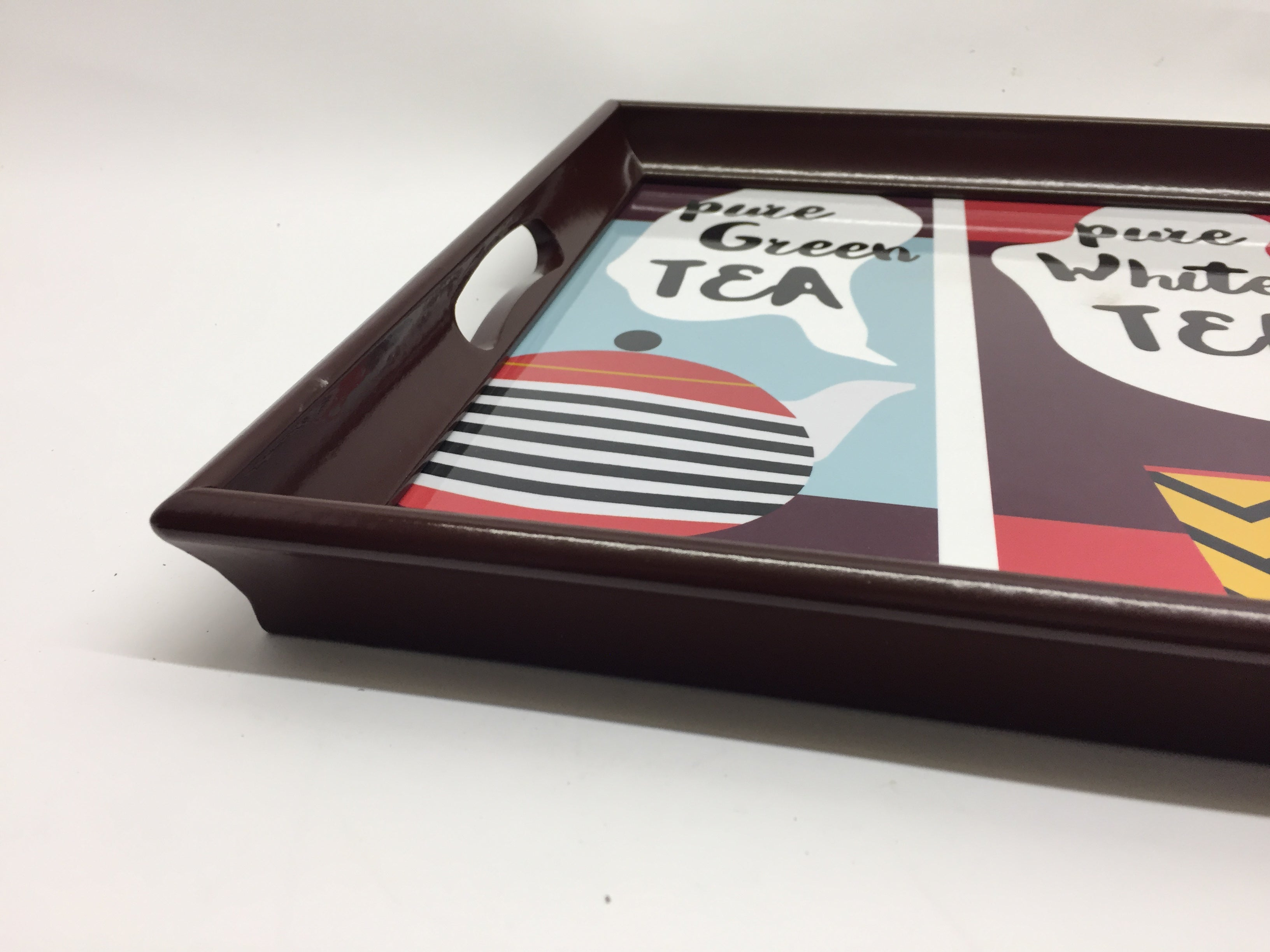 Tea Print Melamine Based Serving Tray