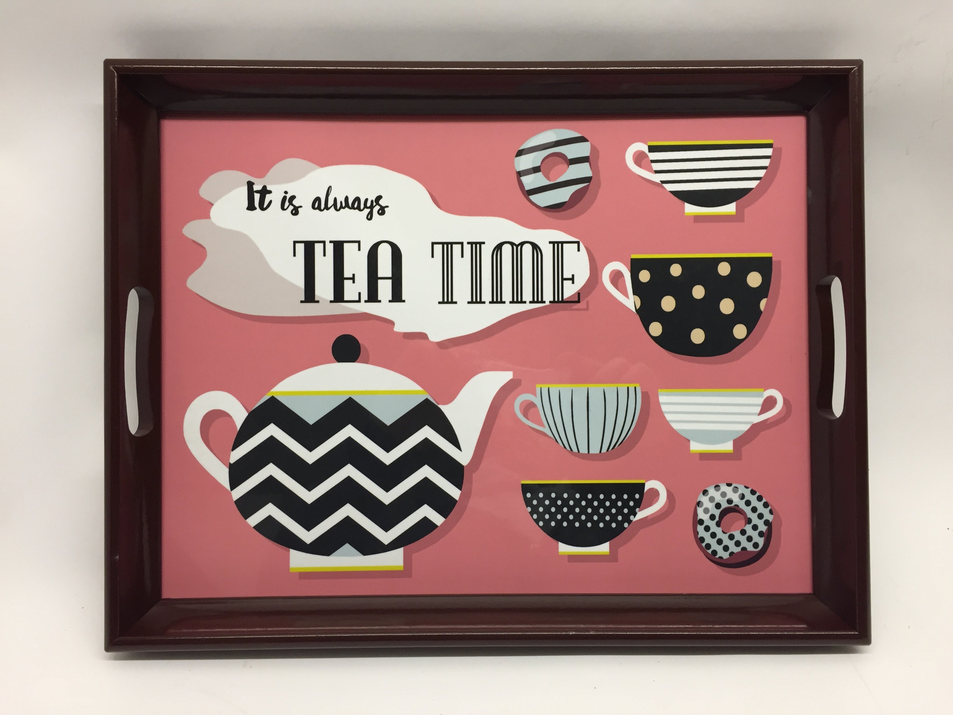 Tea TimeMelamine Based Serving Tray