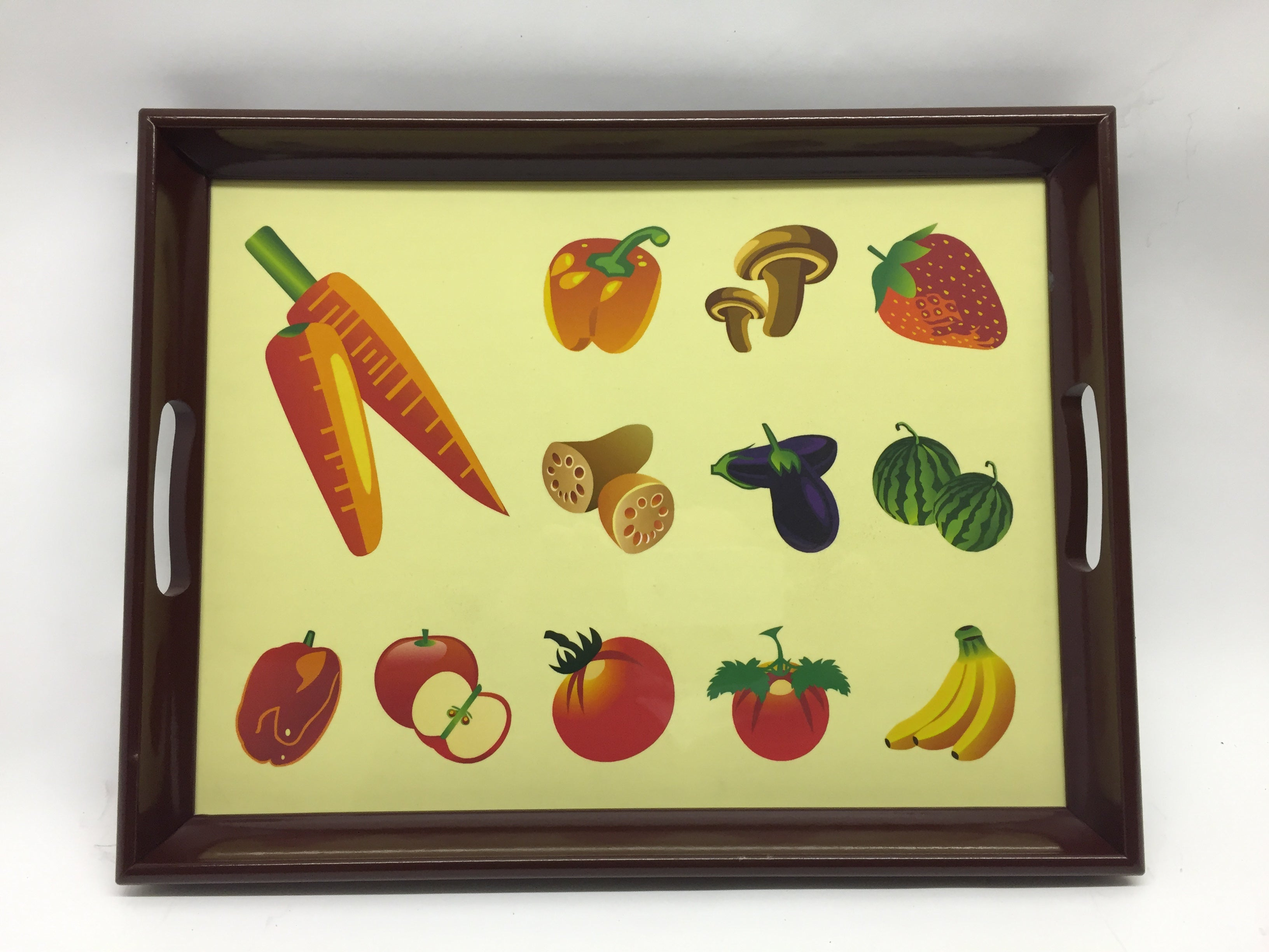 Mixed Veg  Melamine Based Serving Tray