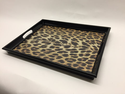 Leopard Melamine Based Serving Tray