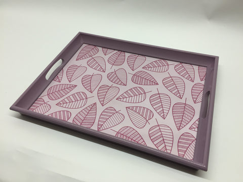Lilac leaves Melamine Based Serving Tray