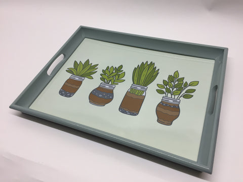 Herb Jars Melamine Based Serving Tray