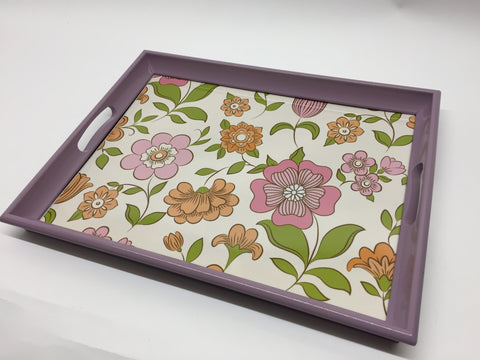 Lilac summer flowers Melamine Based Serving Tray