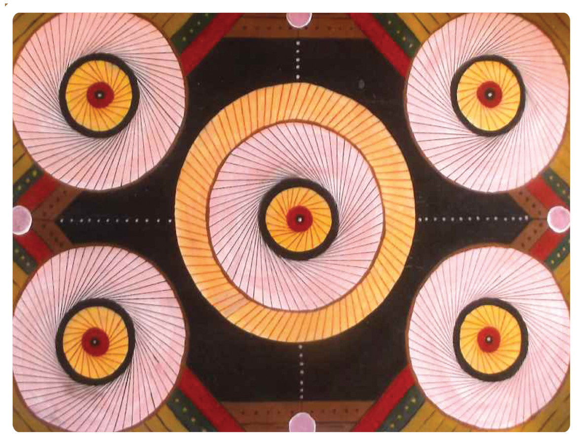 4 x Paul Cox Melamine Geo Abstract  Placemats