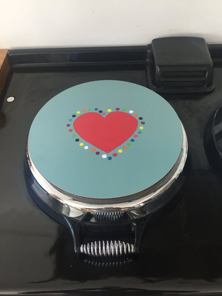 Solid Melamine Chef Pad (Single Heart)