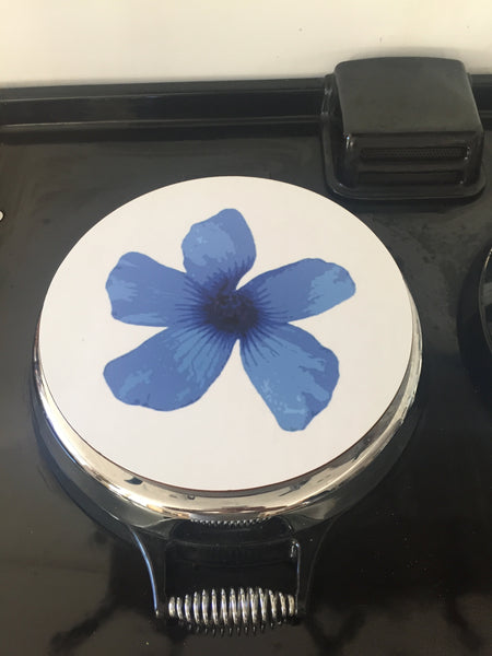 Solid Melamine Chef Pad (Blue Flower)