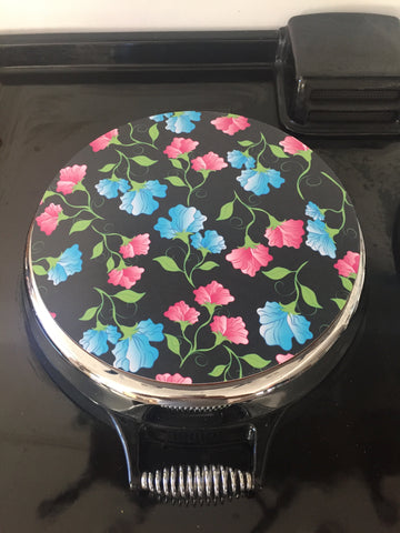 Solid Melamine Chef Pad (Pink & Black Flower)