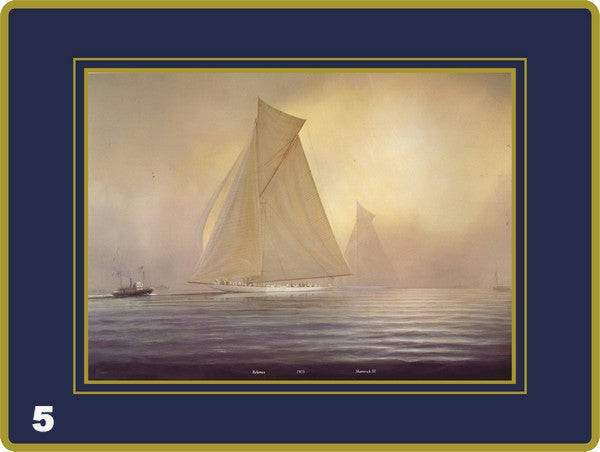 Set of 4 Ebbels Paintings of the Americas Cup (Placemats & Continental Mats only)