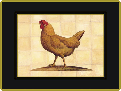 Set of 4  Ebbels Chicken Coasters