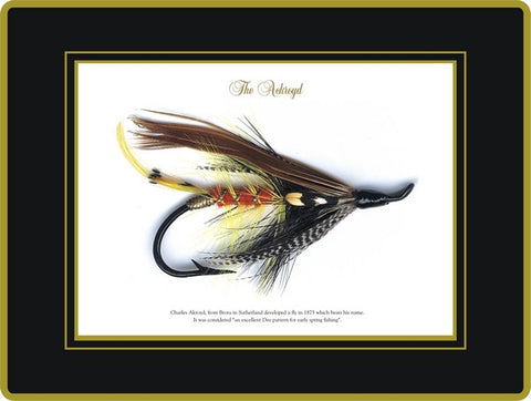 Set of 4 Ebbels Fishing Fly Coasters