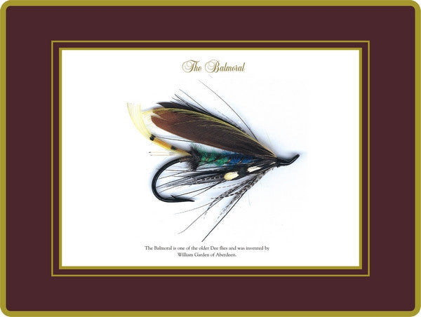 Set of 4 Ebbels Fishing Fly Placemats