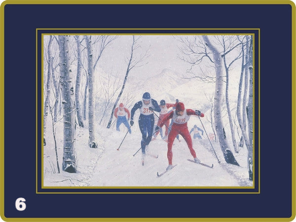Set of 4 Ebbels Skiing (Placemats & Continental Mats only)