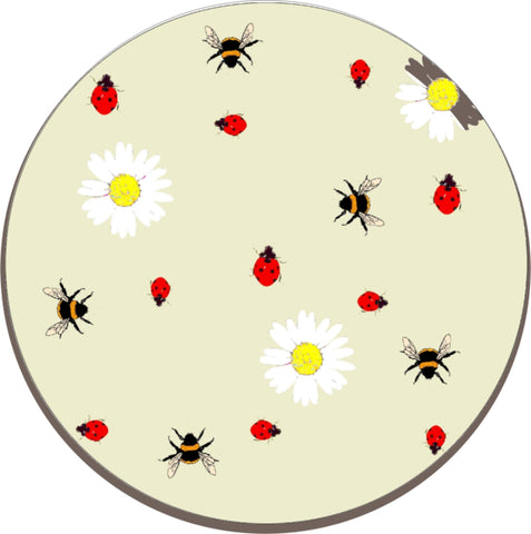 Melamine Trivet - Worktop Saver - Kettle stand (Lady Bird & Bee)