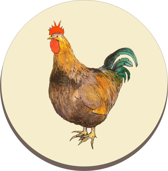 Melamine Trivet - Worktop Saver - Kettle stand (Chicken)