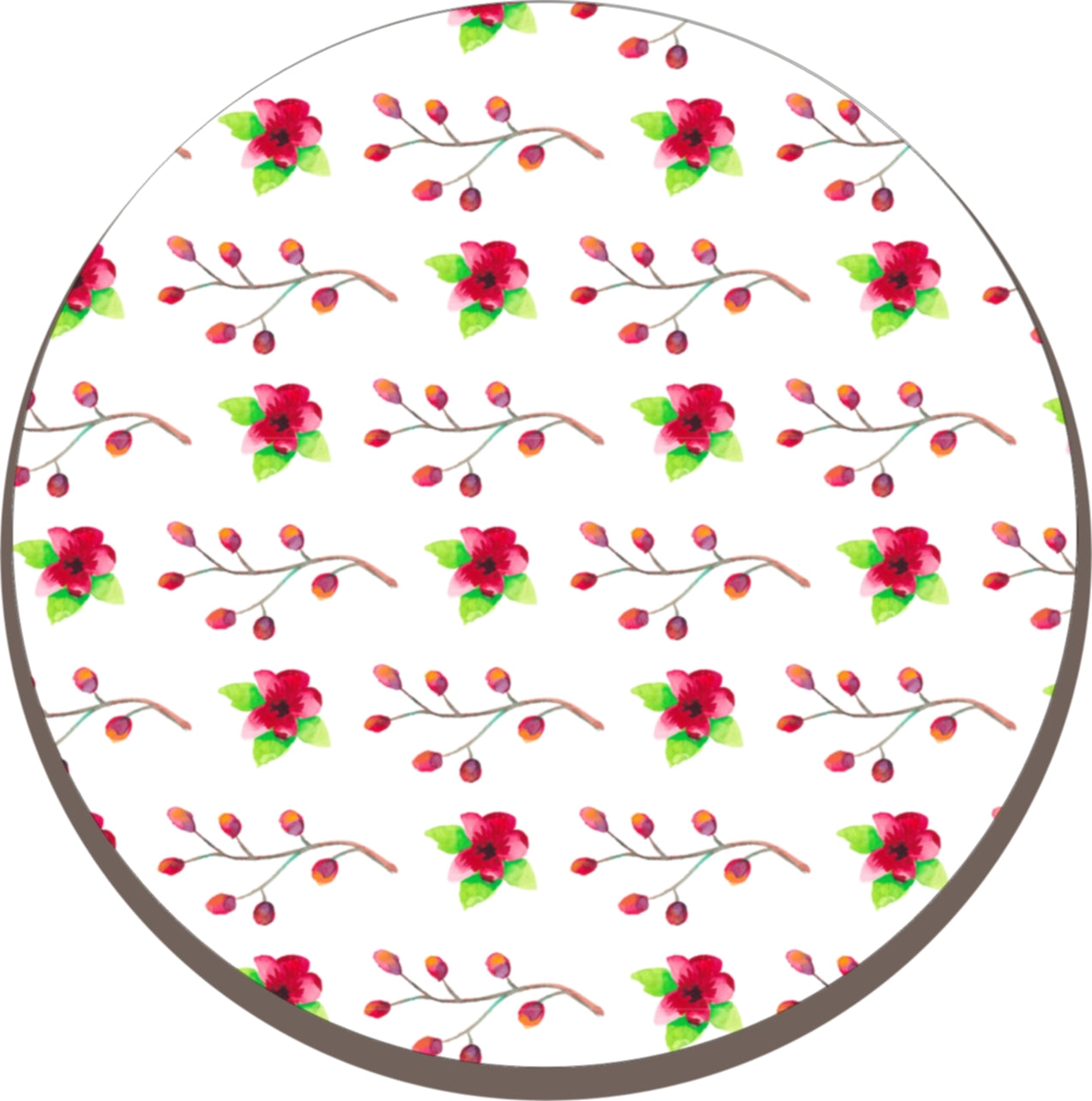 Solid Melamine Chef Pad (Red Flower)