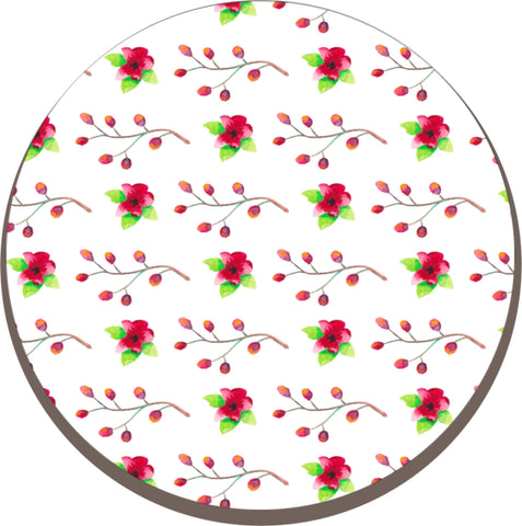 Melamine Trivet - Worktop Saver - Kettle stand (Red Flower)