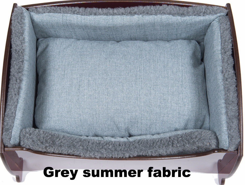 Handmade Luxury Pet Bed for Small Dogs or Cats (plain blue)
