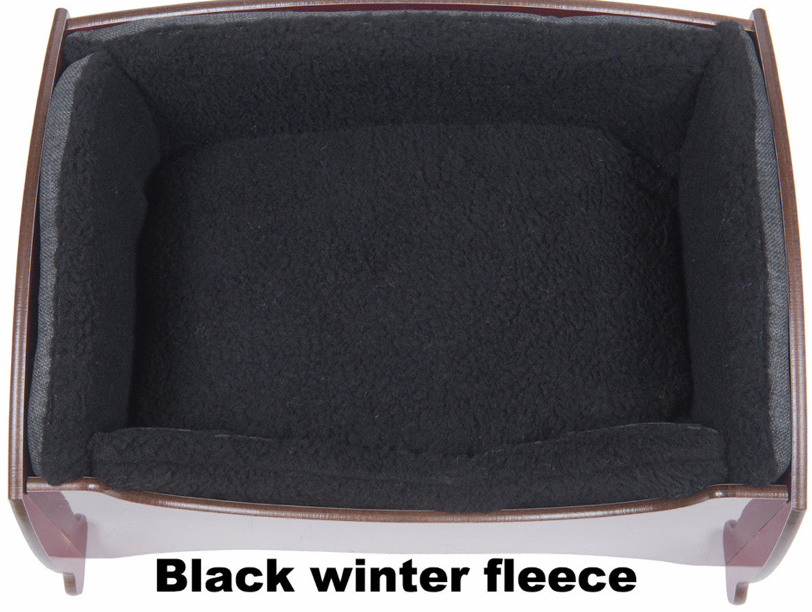 Handmade Luxury Pet Bed for Small Dogs or Cats (small hearts black)