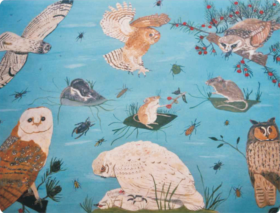 4 x Paul Cox Melamine Birds Placemats