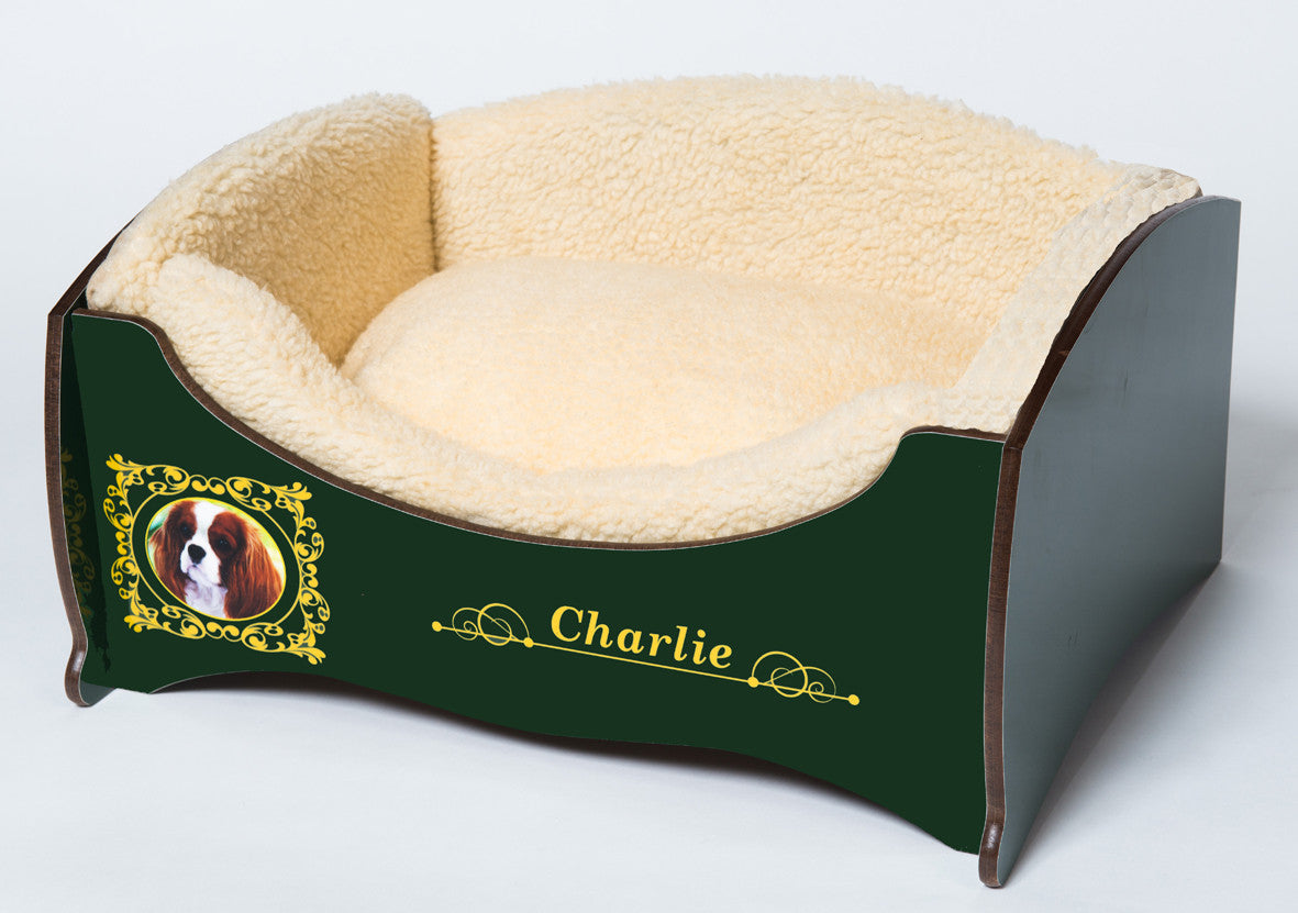 Handmade Luxury Pet Bed for Small Dogs or Cats (Custom green)