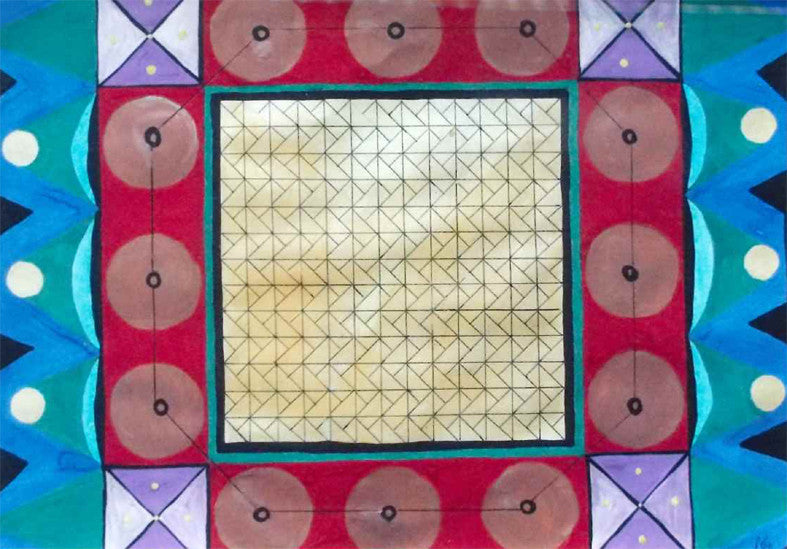 4 x Paul Cox Melamine Geometric Abstract  Placemats