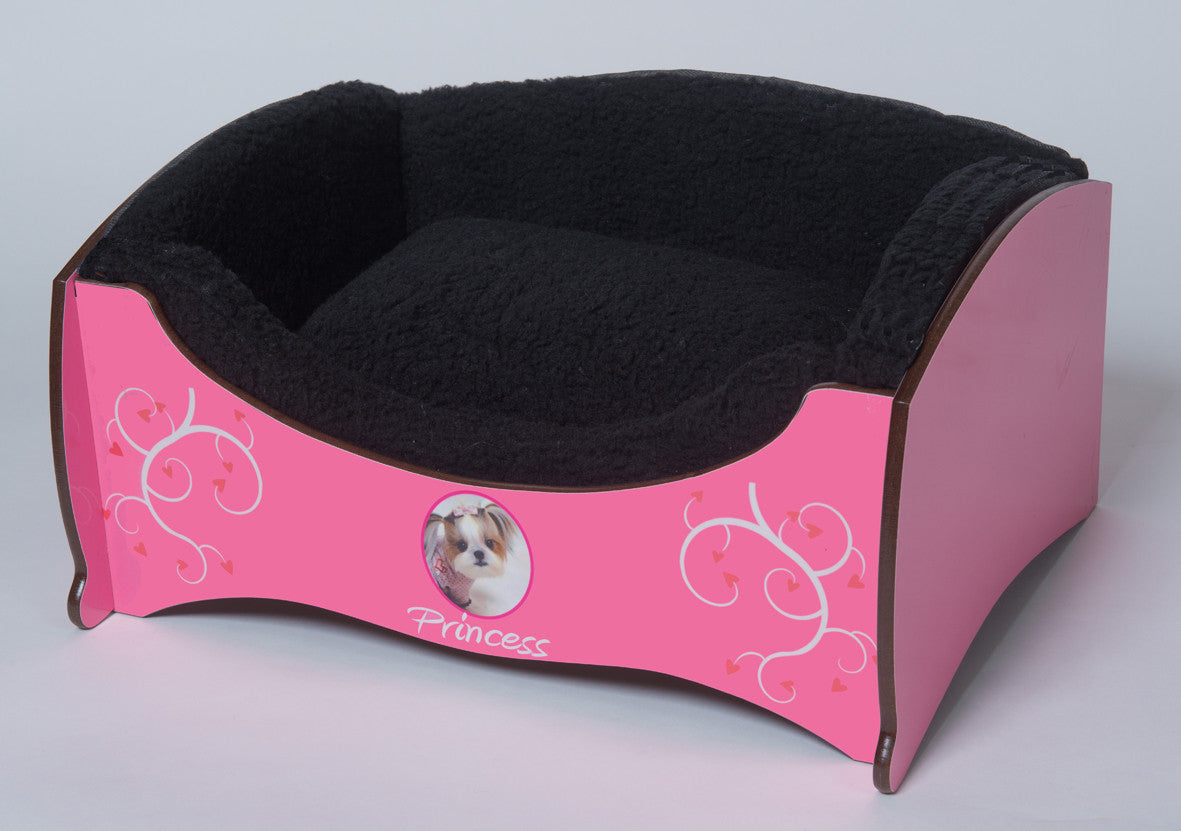 Handmade Luxury Pet Bed for Small Dogs or Cats (Custom Pink)