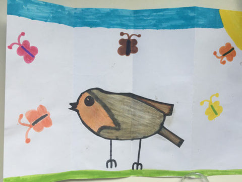 children-drawing-bird