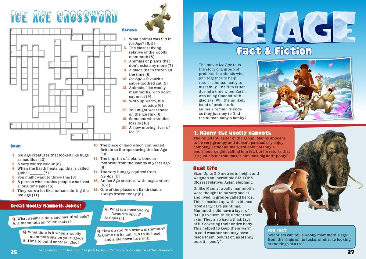 Kid\'s Nature Magazines - Issue 26 - The Mystery Ice Age - Eco Kids ...
