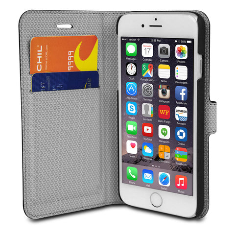 Chil Attraction Jacket Magnetic Wallet & Case for iPhone 6 Plus (Black)