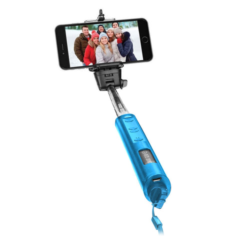 Smart Gear 40 Bluetooth Telescoping Extendable Monopod Selfie Stick, Blue