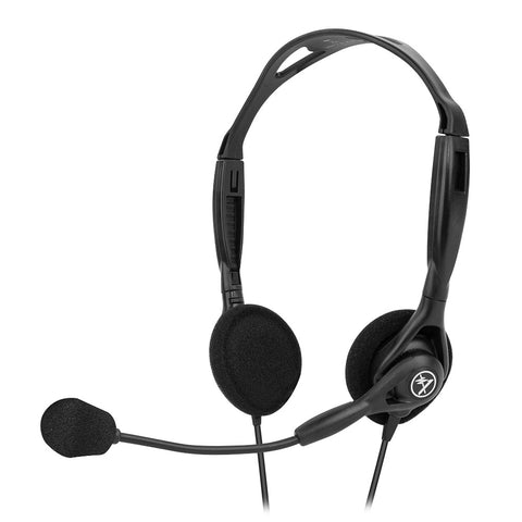 Andrea NC-125 Noise Canceling Stereo PC Headset with Dual 3.5mm Plugs