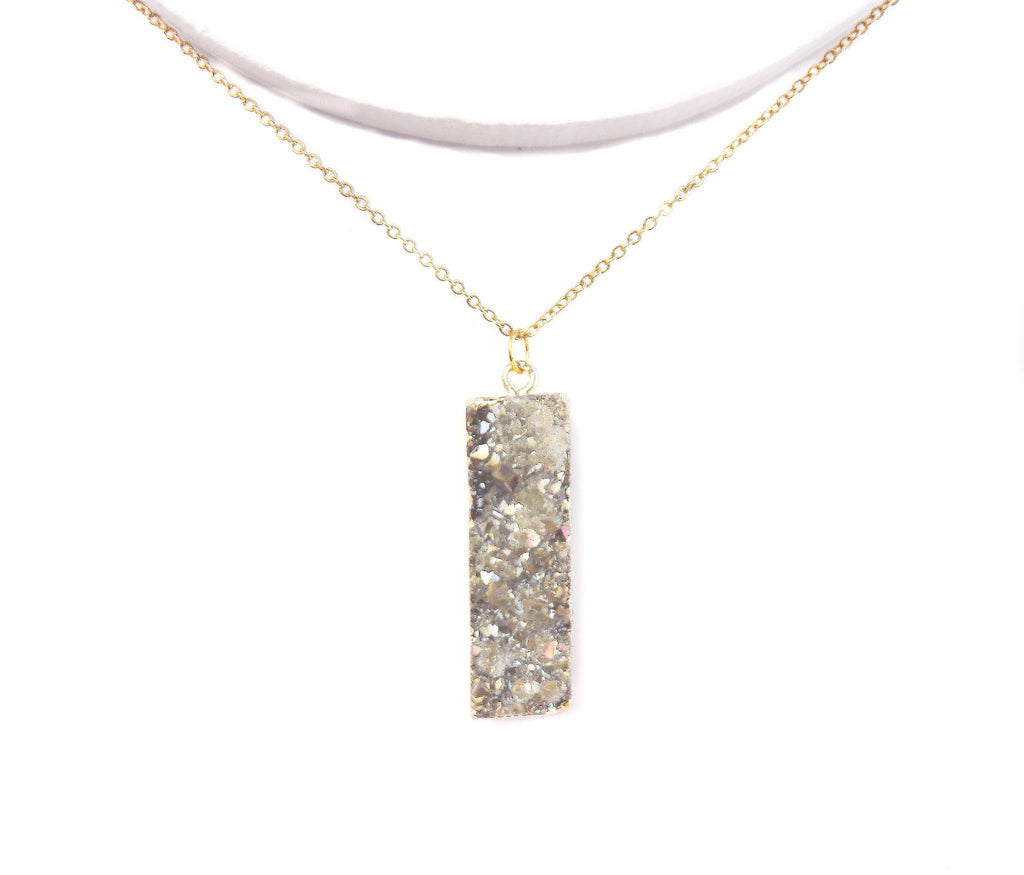 Druzy Solitaire - Gold