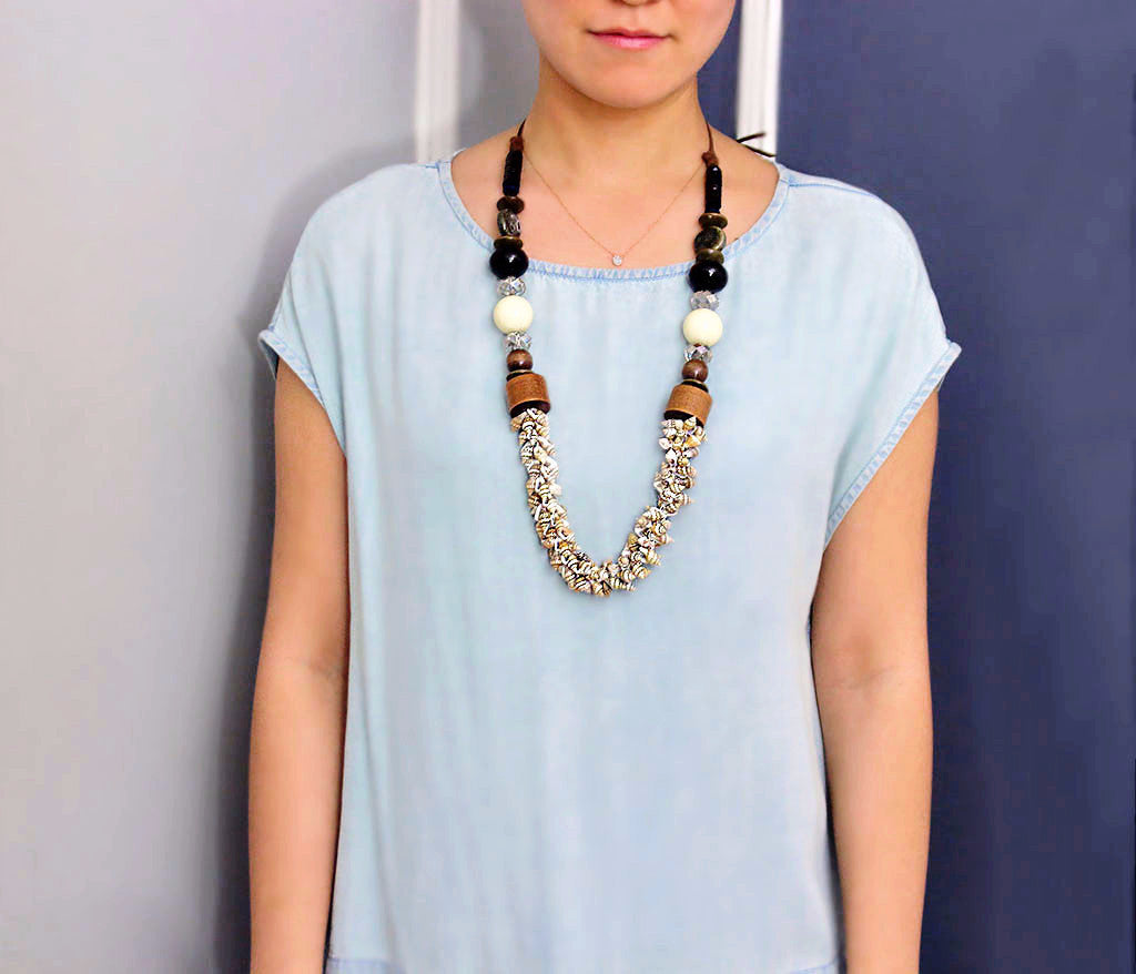 Ekaterina Bohemian Shell Necklace [LIMITED]