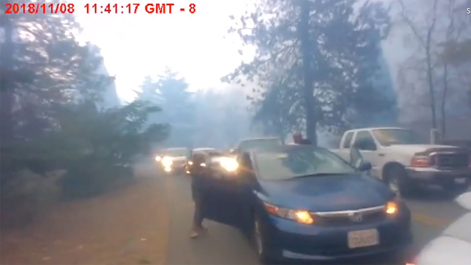 Truckee Police Department Releases Evacuation Video from Camp Fire